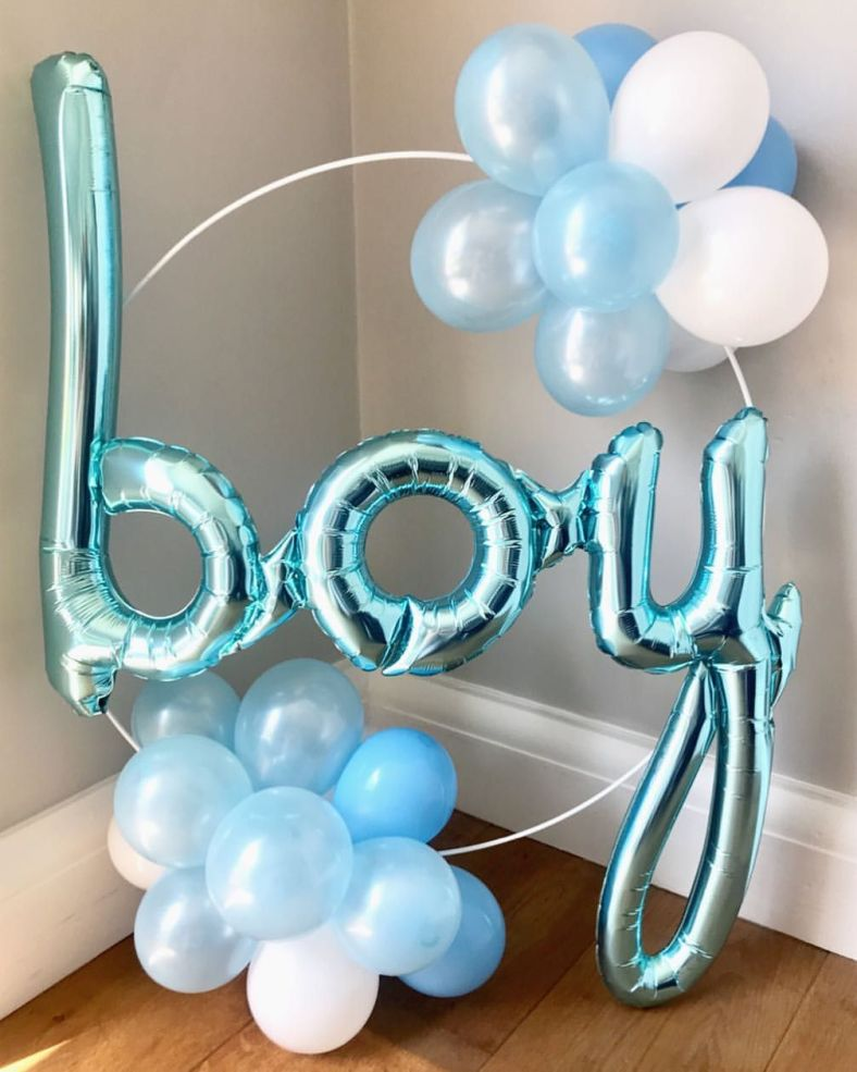 It's a boy! Our new baby shower balloon hoops! Place on the cake table, next to the presents or use as a photo prop! …